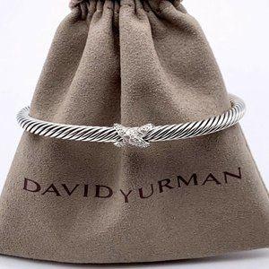 David Yurman 4mm Diamond X Station Bracelet